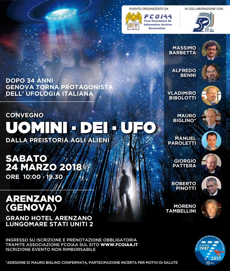 Convegno di Arenzano 24 marzo 2018 - Ufologia a convegno