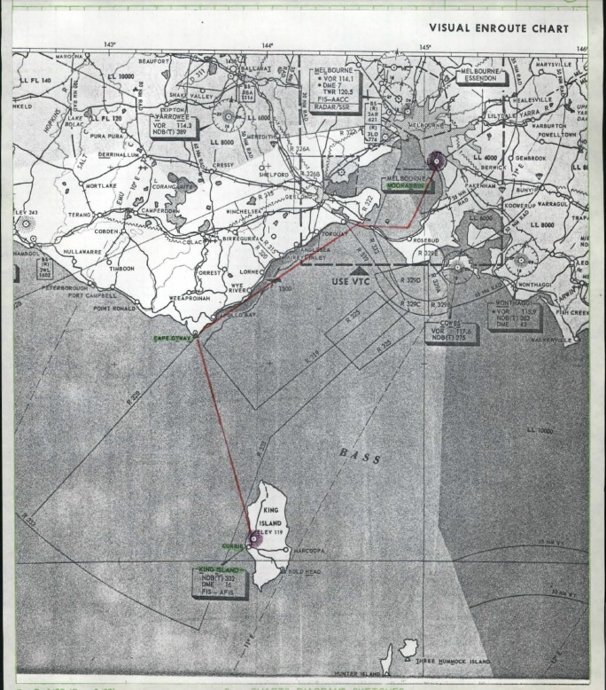 mappa Valentich